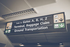 Baggage Claim sign Stock Photo