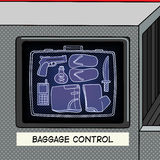 Baggage control pop art style vector Stock Photo