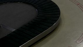 Baggage conveyor belt. At airport stock video footage
