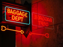 Baggage Department neon sign Royalty Free Stock Image