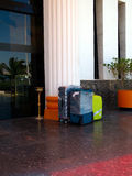 Baggage at the hotel entrance Stock Photography