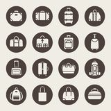 Baggage icon set Stock Images