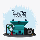 Baggage and implements icon. Time to travel design. Vector graph Royalty Free Stock Photos