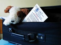 Baggage inspection notice royalty free stock photography