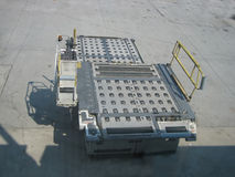 Baggage loader. Pictures related to aviation Stock Images