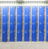 Baggage lockers in the station concourse Stock Photography