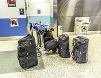 Baggage at Miami international Airport Royalty Free Stock Photos