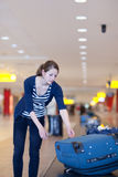 Baggage reclaim at the airport Stock Photography