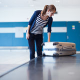 Baggage reclaim at the airport Stock Images