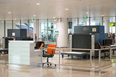 Baggage scanner at the airport Royalty Free Stock Image