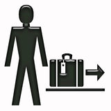 Baggage symbol Stock Photography