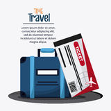 Baggage and ticket icon. Time to travel design. Vector graphic Royalty Free Stock Photos