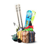 Baggage tourist ski Stock Photography
