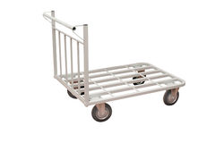 Baggage trolley Stock Photography