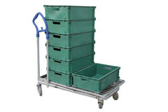 Baggage trolley Stock Image