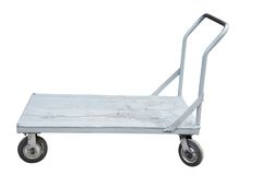 Baggage trolley. Under the white background Stock Photos
