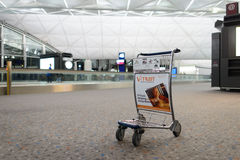 Baggage trolley in airport Royalty Free Stock Photography