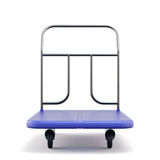 Baggage trolley front view Royalty Free Stock Photos