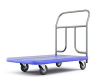 Baggage trolley isolated on white. Background. 3d illustration Stock Photography