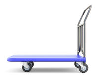 Baggage trolley side view. On white background. 3d illustration Stock Image