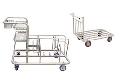 Baggage trolley Stock Photos