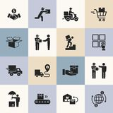 Vector delivery logistic icons for web, infographic or print. vector illustration