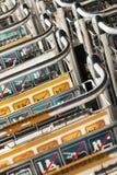 Baggage trolleys at Beijing Capital International Airport Stock Photo