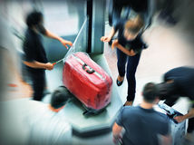 Baggage wrapping Royalty Free Stock Images