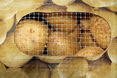 Bagged Potatoes Royalty Free Stock Photos