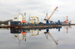 bagger Nordsee, Wilhelmshaven, Deutschland Stockfotografie