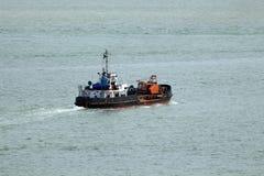 Baggermachine op zee Stock Afbeelding