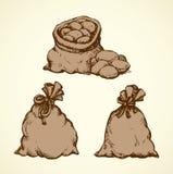 baggies bakgrund som tecknar den blom- gr?svektorn stock illustrationer