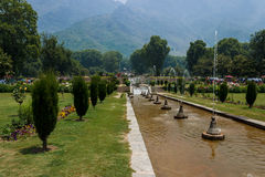 Bagh de Nishat, jardins de Mughal, Srinagar Images libres de droits