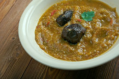 Baghara baingan. Popular Indian eggplant curry of Hyderabad in India Stock Photos