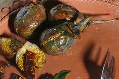 Baghara baingan - um caril indiano popular da beringela Imagens de Stock