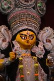 Baghbazar Sarbojanin Durga Puja Idol Closeup 2018 photos stock
