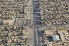 Baghdad, Iraq. Aerial view of an area in Baghdad, Iraq Royalty Free Stock Images