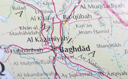 Baghdad map Stock Image