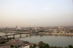 Baghdad at Night Royalty Free Stock Images