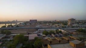 Baghdad på soluppgång Arkivfoto
