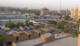 Baghdad på soluppgång Arkivfoton