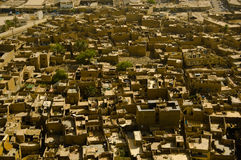 Baghdad suburbs. The ancient suburbs of Baghdad, showing the countless satellite dishes Royalty Free Stock Photo