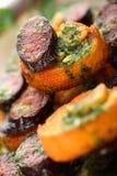 bagietkę chorizo smażone plasterki Zdjęcia Stock