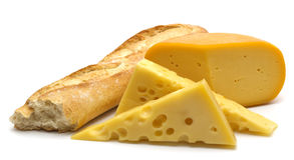 bagietkę sera. Obraz Royalty Free