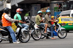 Bagkok, Thailand: Family on Motorcycle Stock Image