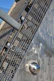 Bagley fot- bro till den mexicanska staden i Detroit Royaltyfria Bilder