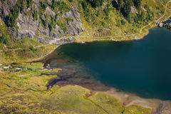 Bagley Lakes, Heather Meadows. Royalty Free Stock Photography