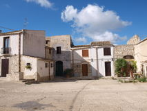 Baglio sicilian farmhouse. Typical sicilian baglio on the countryside stock photos