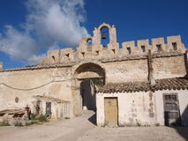 Baglio sicilian farmhouse. Typical sicilian baglio on the countryside royalty free stock images