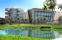 Bagmane Tech Park. BANGALORE INDIA - Dec 14 : Bagmane Tech Park is a software technology park equipped with all modern class facilities. On December 14, 2015 Stock Photos